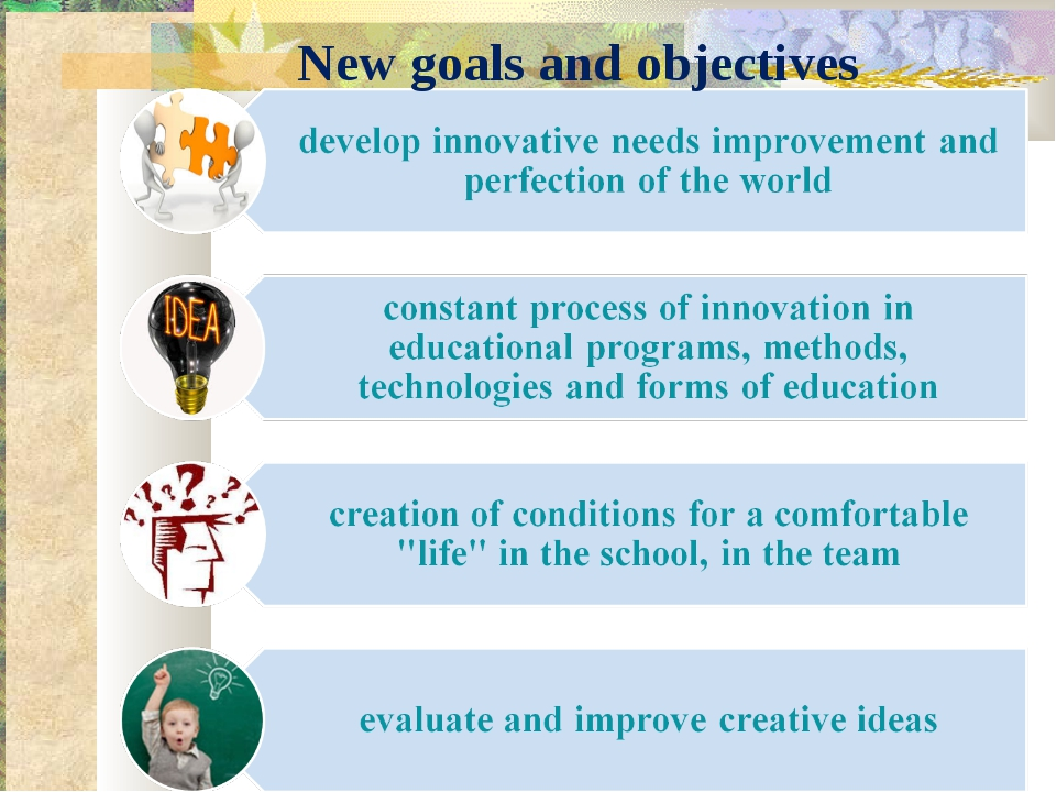 educational goals and objectives