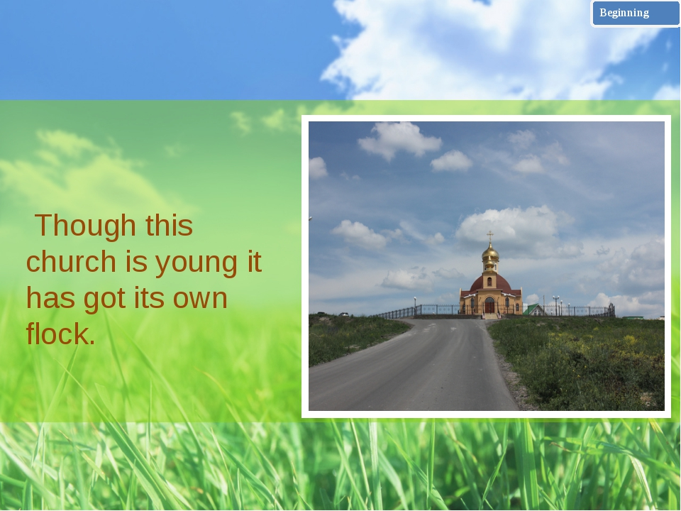 On the threshold of the church I was met by the father Vasilij who told me...