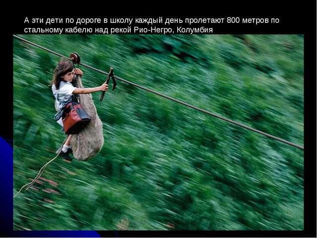 А эти дети по дороге в школу каждый день пролетают 800 метров по стальному ка...
