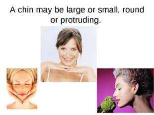 A chin may be large or small, round or protruding.