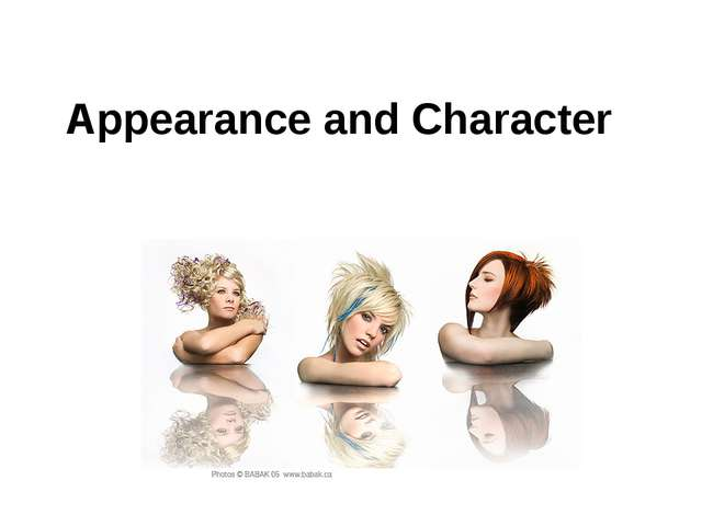 Appearance and Character