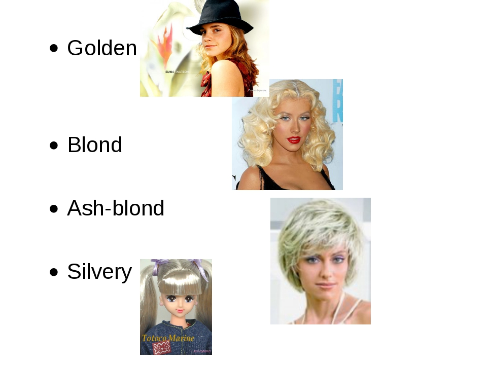 Golden Blond Ash-blond Silvery