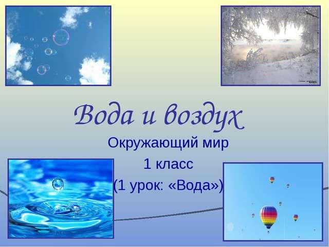 Вода и воздух Окружающий мир 1 класс (1 урок: «Вода»)