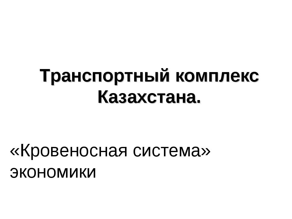 Транспортный комплекс Казахстана. «Кровеносная система» экономики