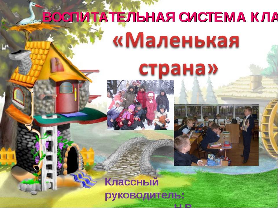ВОСПИТАТЕЛЬНАЯ СИСТЕМА КЛАССА Классный руководитель: Н.В. Выгоренко