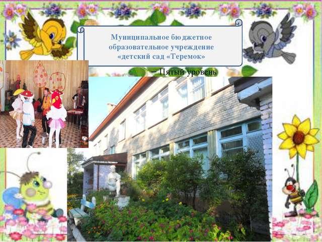 Муниципальное бюджетное образовательное учреждение «детский сад «Теремок»