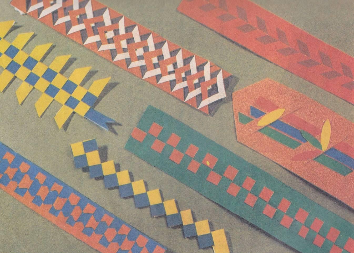 Схема плетения коврика из бумаги