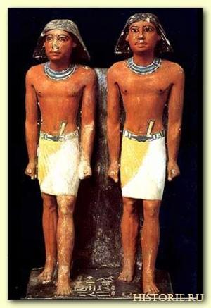 Фигурки древних египтян