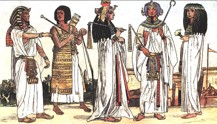 Фараон и его приближенные кроме всех атрибутов власти носили большие