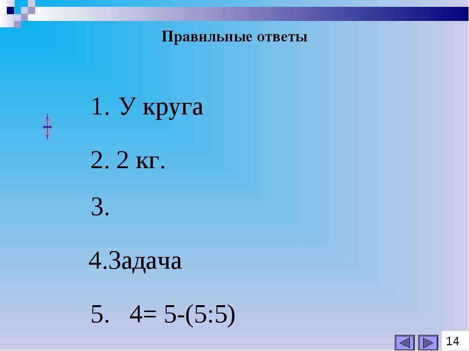 Правильные ответы 14