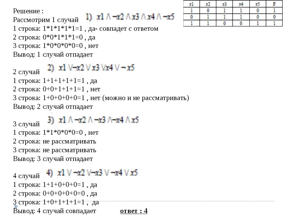 Решение : Рассмотрим 1 случай 1 строка: 1*1*1*1*1=1 , да- совпадет с ответом...