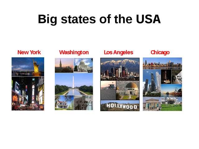 Big states of the USA