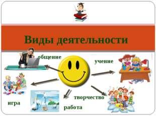 игра общение работа учение творчество Виды деятельности