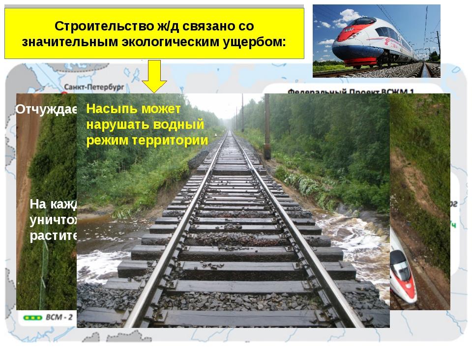 Особое направление – создание высокоскоростных магистралей Строительство ж/д...