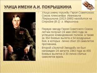 Улица имени трижды Героя Советского Союза Александра Ивановича Покрышкина (19