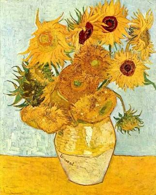 картина ван Гога Подсолнухи