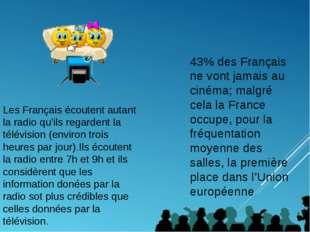 43% des Français ne vont jamais au cinéma; malgré cela la France occupe, pour