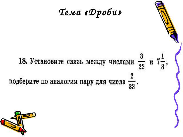Тема «Дроби»