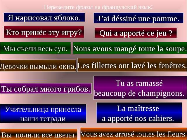 знакомство на французский язык
