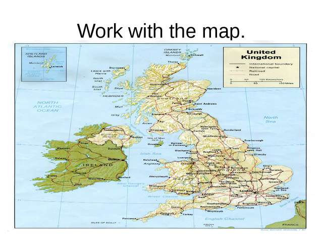Work with the map.