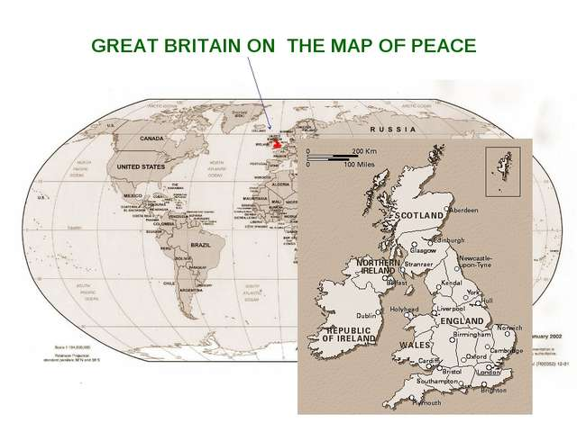 GREAT BRITAIN ON THE MAP OF PEACE