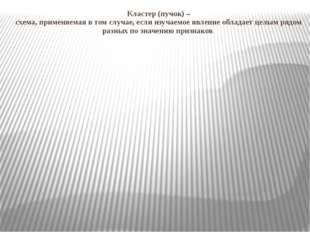Кластер (пучок) – схема, применяемая в том случае, если изучаемое явление об