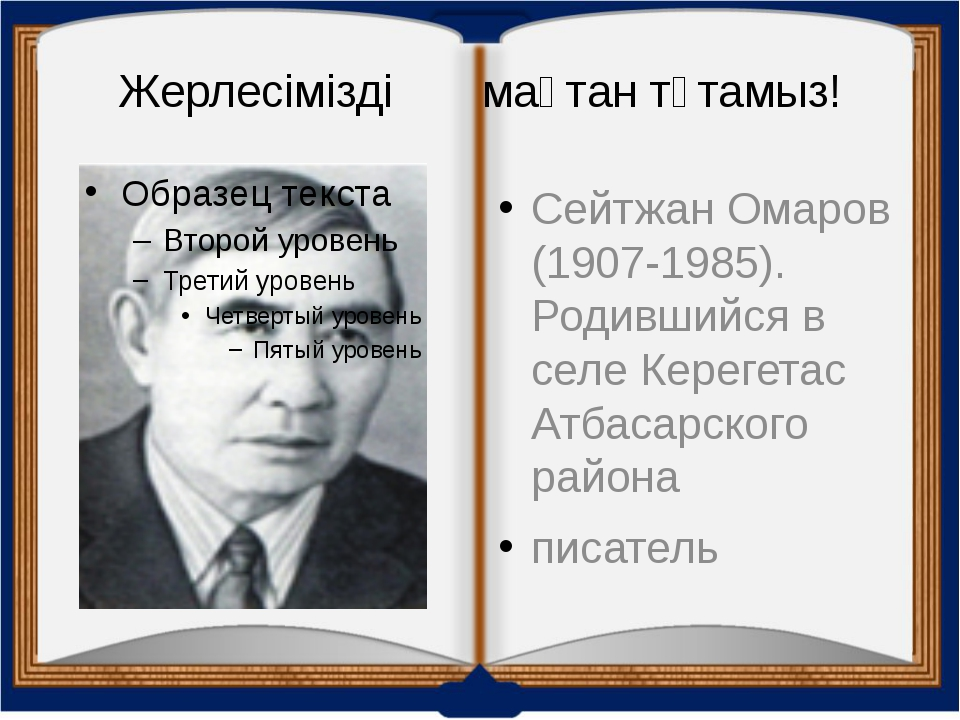 Жерлесімізді мақтан тұтамыз! Сейтжан Омаров (1907-1985). Родившийся в селе Ке...