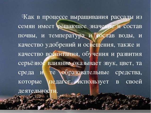 Как в процессе выращивания рассады из семян имеет решающее значение и состав...