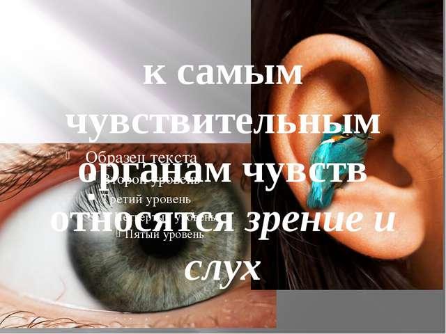 к самым чувствительным органам чувств относятся зрение и слух