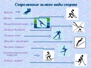 Бобслей  Кёрлинг Конькобежный спорт Лыжное двоеборье Лыжные гонки