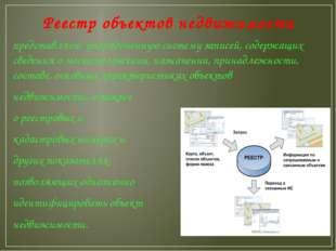 Реестр объектов недвижимости представляет упорядоченную систему записей, соде