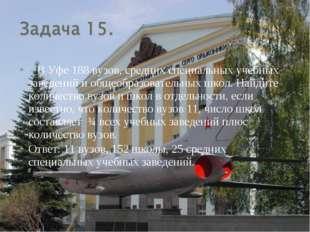 В Уфе 188 вузов, средних специальных учебных заведений и общеобразовательных