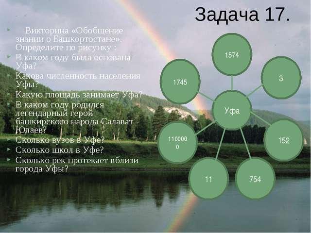 Викторина «Обобщение знании о Башкортостане». Определите по рисунку : В како...