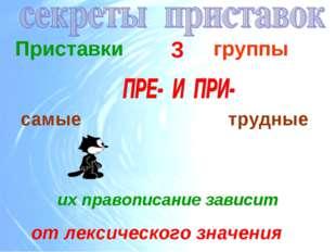 Приставки 3 группы самые трудные от лексического значения их правописание зав