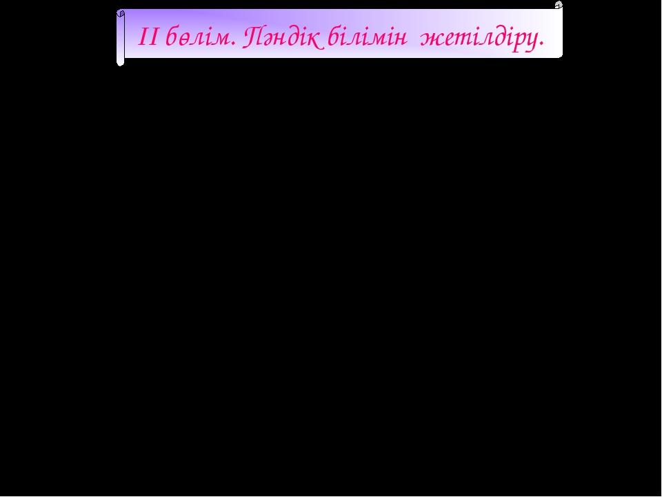 II бөлім. Пәндік білімін жетілдіру. р/сТақырыптарыУақытыӘдебиеттері 1Ашық...