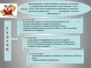 сформировать умение находить в тексте, различать и употреблять однозначные и