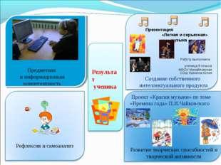 Результат ученика Предметная и информационная компетентность Презентация «Лег