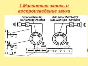 1.Магнитная запись и воспроизведение звука