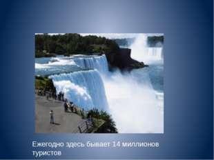 Ежегодно здесь бывает 14 миллионов туристов