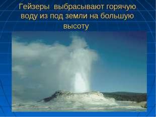 Гейзеры выбрасывают горячую воду из под земли на большую высоту