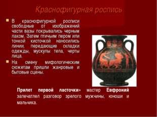 Краснофигурная роспись В краснофигурной росписи свободные от изображений част