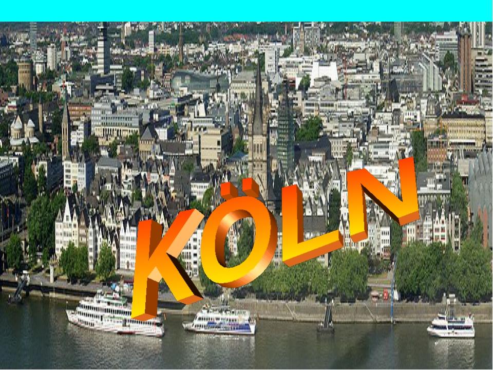 Köln-Panorama von der Deutzer Brücke aus gesehen.