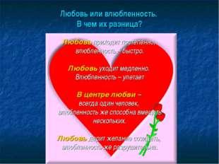 Любовь или влюбленность. В чем их разница? Любовь приходит постепенно, влюбле