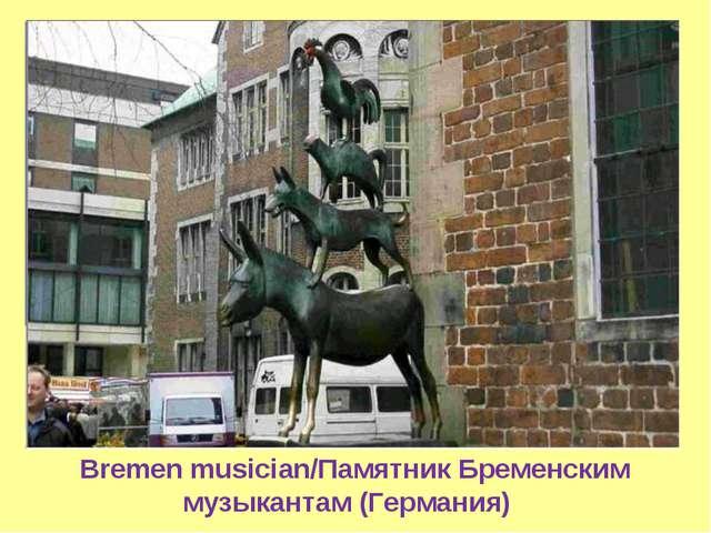 Bremen musician/Памятник Бременским музыкантам (Германия)