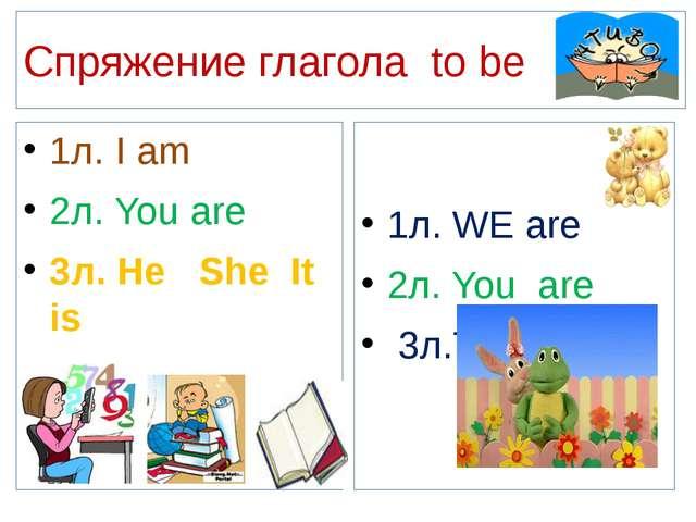 Спряжение глагола to be 1л. I am 2л. You are 3л. He She It is 1л. WE are 2л....