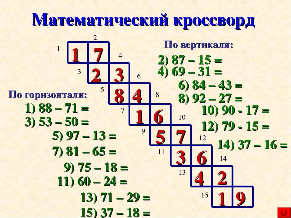 Занимательные вопросы по математике для 7 класса с ответами