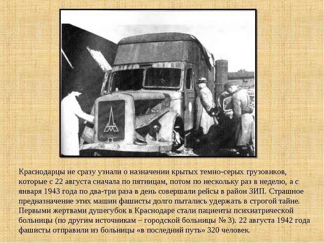 Краснодарцы не сразу узнали о назначении крытых темно-серых грузовиков, котор...