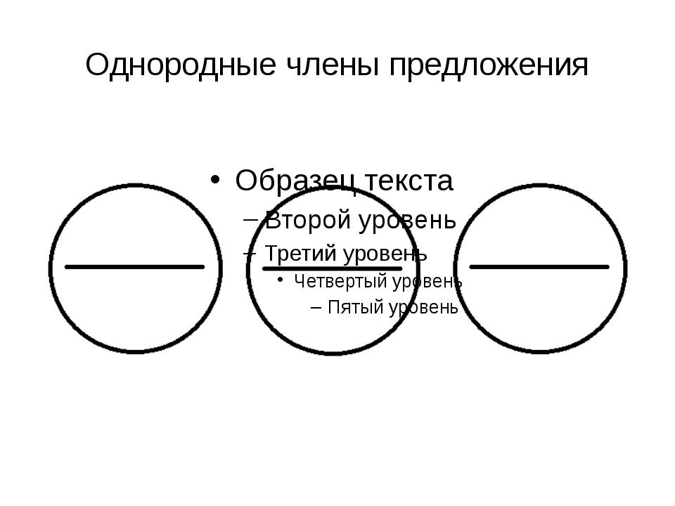 Однородные члены предложения