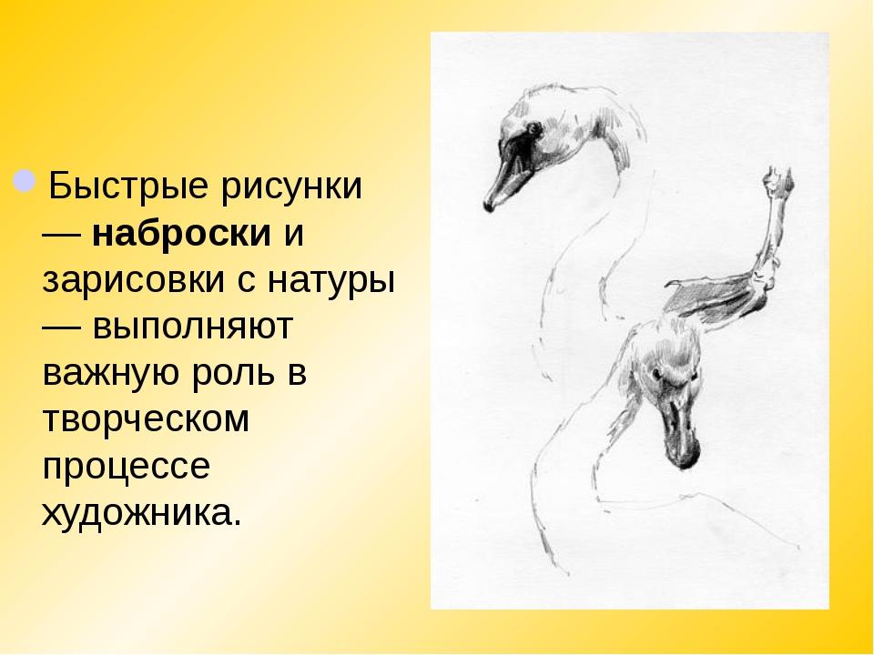 Быстрые рисунки —наброскии зарисовки с натуры — выполняют важную роль в тво...