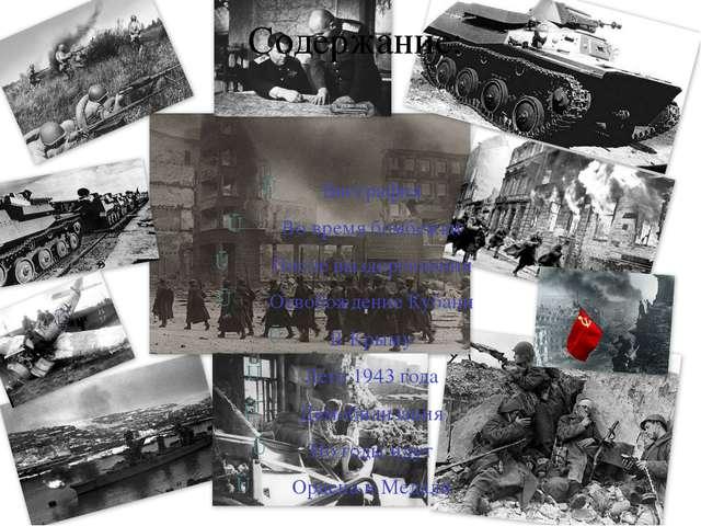 Содержание: Биография Во время бомбежки После выздоровления Освобождение Куб...